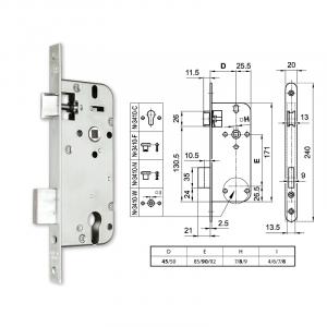 3410-C hengerzárbetétes bevésőzár 45/90 mm termék fő termékképe