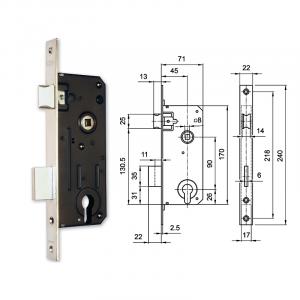 3420 hengerzárbetétes bevésőzár 45/90 mm termék fő termékképe