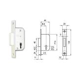 415 fogazott kulcsos bevéső reteszzár (portál másodzár)