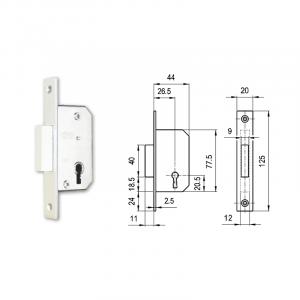 415 fogazott kulcsos bevéső reteszzár (portál másodzár) termék fő termékképe