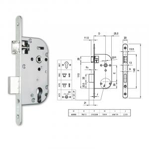 667 hengerzárbetétes bevésőzár 40/70 mm termék fő termékképe