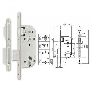 667-M mágnescsapdás hengerzárbetétes bevésőzár 40/70 mm termék fő termékképe