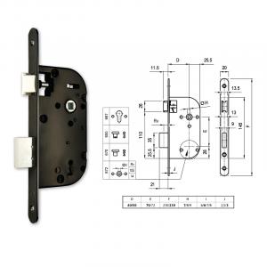 670 normál kulcsos bevésőzár 40/70 mm termék fő termékképe