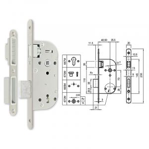 670-M mágnescsapdás normál kulcsos bevésőzár 40/70 mm termék fő termékképe