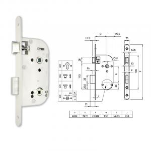 672 fordítógombos bevésőzár 40/70 mm termék fő termékképe