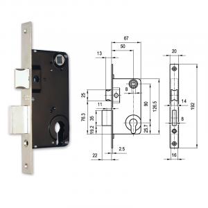 709 hengerzárbetétes bevésőzár 50/90 mm termék fő termékképe