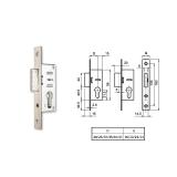 EUROPORTÁL hengerzárbetétes reteszzár (portál másodzár) 35/22 mm