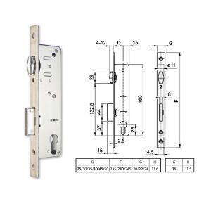 EUROPORTÁL hengerzárbetétes, görgős portálzár 35/22 mm termék fő termékképe