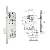 MIDI 7-N normál kulcsos bevésőzár 40/90 mm