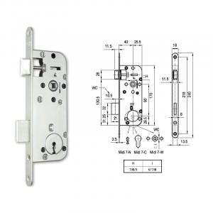 MIDI 7-N normál kulcsos bevésőzár 40/90 mm termék fő termékképe