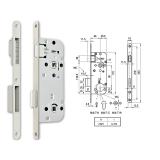 MIDI 7-W M mágnescsapdás fordítógombos bevésőzár 40/90 mm