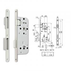 MIDI 7-W M mágnescsapdás fordítógombos bevésőzár 40/90 mm termék fő termékképe