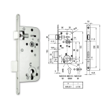 MIDI 8-C hengerzárbetétes bevésőzár 50/90 mm