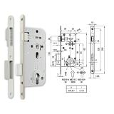 MIDI 8-C M mágnescsapdás hengerzárbetétes bevésőzár 50/90 mm