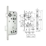 MIDI 8-N normál kulcsos bevésőzár 50/90 mm