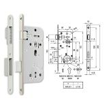 MIDI 8-N M mágnescsapdás normál kulcsos bevésőzár 50/90 mm