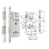 MIDI 8-W M mágnescsapdás fordítógombos bevésőzár 50/90 mm