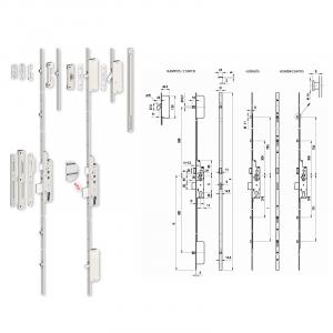 TOP Multisoft többpontos görgős bevésőzár 25/92/16 mm termék fő termékképe