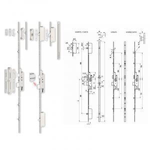 TOP Multisoft többpontos görgős bevésőzár 30/92/16 mm termék fő termékképe