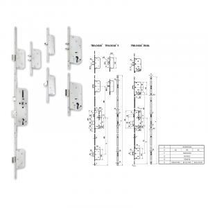 TRILOGIA DUAL többpontos zár 55/90 mm termék fő termékképe