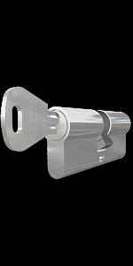 TITAN XT hengerzárbetét 50/50 mm,fényes nikkel bevonattal termék fő termékképe
