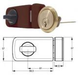 ELZETT 6784 felcsavarozható másodzár, barna