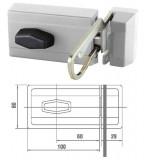 ELZETT 6785 felcsavarozható másodzár biztonsági kitekintővel, fehér