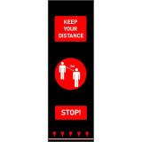Social Distancing padlószőnyeg - 0.65 m x 2 m piros (people)