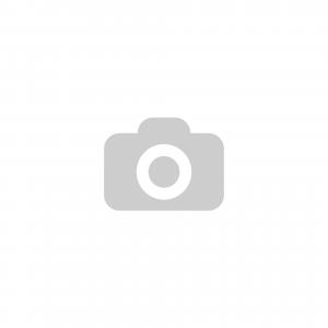 ES-JN-S-100 K totálfékes forgóvillás hátfuratos fém tárcsás görgő gumi futófelülettel, Ø100 mm termék fő termékképe