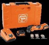 Fein MultiMaster AMM 300 Plus Start akkus oszcilláló kéziszerszám fa, fém, gipszkarton és műanyag vágásához (2 x 3.0 Ah Li-ion akkuval)