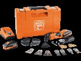 Fein MultiMaster AMM 500 Plus Top akkus oszcilláló kéziszerszám szett építkezési és felújítási munkákhoz (2 x 3.0 Ah Li-ion akkuval)