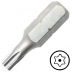 """TX7 furatos Torx csavarbehajtó bit 1/4"""" hatszög illesztéssel, 25 mm (10 db)"""
