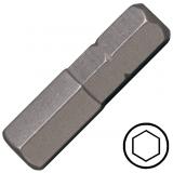 """KENNEDY 6.0 mm hatszög csavarhúzó bit 1/4"""" hatszög illesztéssel, 25 mm, 10db/csomag"""