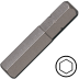 10 mm hatszög csavarbehajtó bit 10 mm hatszög illesztéssel, 75 mm (5 db)