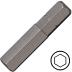 4 mm hatszög csavarbehajtó bit 10 mm hatszög illesztéssel, 75 mm (5 db)