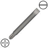"""7/32"""" hornyos x No.2 kereszthornyos kétvégű csavarbehajtó bit 1/4"""" hatszög befogással, 60 mm (5 db)"""