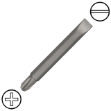 """KENNEDY 3/16"""" hornyos x No.1 kereszthornyos kétvégű csavarbehajtó bit 1/4"""" hatszög befogással, 60 mm, 5db/csomag"""