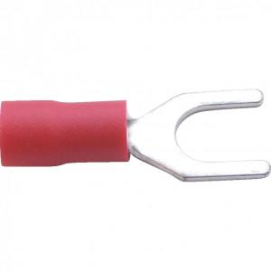 5.00 mm piros villás kábelsaru (100 db) termék fő termékképe