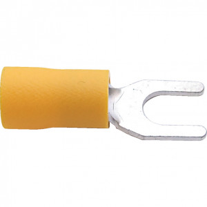 6.00 mm sárga villás kábelsaru (100 db) termék fő termékképe