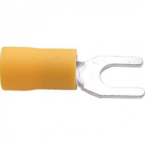 5.00 mm sárga villás kábelsaru (100 db) termék fő termékképe