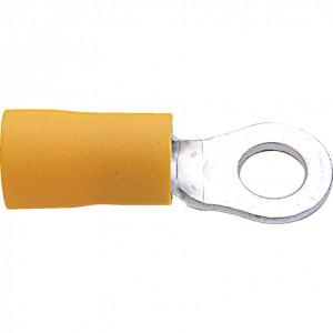 10.00 mm sárga gyűrűs kábelsaru (100 db) termék fő termékképe