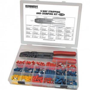 5 funkciós kábelcsupaszító- és saruzó készlet (361 db) termék fő termékképe