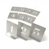 KENNEDY 150 mm cink stencil szám készlet, 10 részes