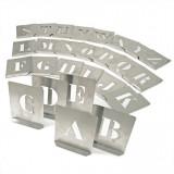 KENNEDY 80 mm acél stencil betű készlet, 26 részes