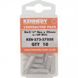 """KENNEDY TX20 Torx csavarhúzó bit 1/4"""" hatszög illesztéssel, 25 mm, 10db/csomag"""