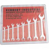"""KENNEDY 1/8"""" - 5/8"""" Whitworth ipari villáskulcs készlet, 8 részes"""