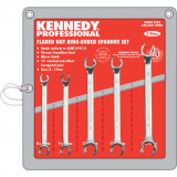 KENNEDY 8-17 mm professzionális ipari fékcsőkulcs készlet, 5részes