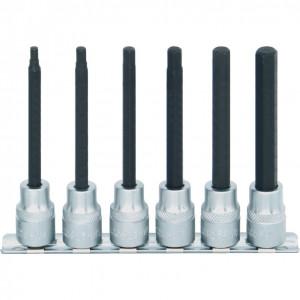 """4 - 10 mm x 100 mm hatszögű feltűzhető csavarbehajtó készlet 3/8"""" -os meghajtóval (6 db) termék fő termékképe"""