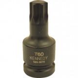 """T70 torx feltűzhető erősített csavarbehajtó 1/2"""" meghajtóval."""