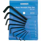 KENNEDY 1.5 - 10 mm hatszögkulcs készlet műanyag tasakban, 9 részes